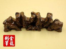 Wholesale Solid wood antique wuzhishan root curved pen High grade art pen Brush rack pens JL BJ006 pen rack penholder