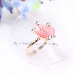 Wholesale-Free Shipping 38mm 24pcs lot Clear Rings Display Stand,Fashion Jewelry Display Ring Display Holder Plastic Ring Display