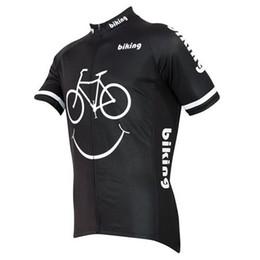 2015 Biking Smiley Cycling Jerseys Shirts Comfortable Breathable Bike Wear Cycling Tops Summer Black Short Sleeves Men Cycling Jerseys