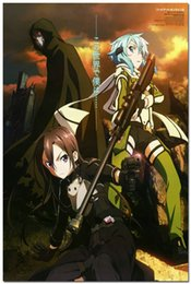 Wholesale Sword Art Online Anime Silk Wall Poster x36 quot Living Room Wall Decor