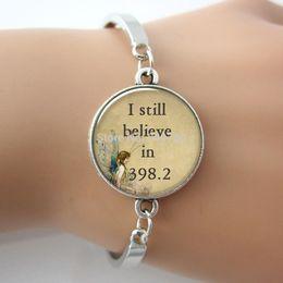 1 pc lot letter I still believe in 398.2 fairy tale pendant, book pendant jewelry fairytale glass charm bracelet&bangle.