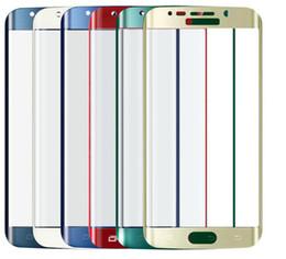 Promotion plaque d'écran Écran 6color Placage Couleur Ultra Thin complète Housse de luxe 3D Curved Effacer Verre Trempé Film de protection pour Samsung Galaxy S6 Bord de détail