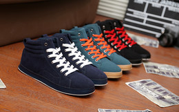 size 39-44 new arrival high-top winter men boots men's skateboard shoes sneakers handmade winter men shoes 4colors