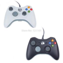 2 set Negro Color Blanco Controlador por cable para XBOX 360 joystick inalámbrico para el controlador oficial de Microsoft XBOX Game desde blanco xbox palanca de mando proveedores