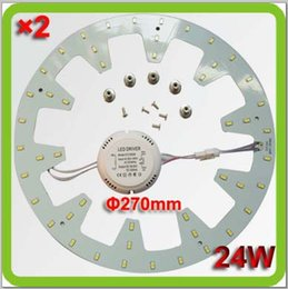 new high bright 5730smd 2400lm 24W magnetic circular LED ceiling light ring disc led techo equal to 60w fluorescent 2D tube