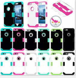 Wholesale New Arrival in Hybrid Armored High Quality PC TPU Protective shell Cover case for iphone s plus s c