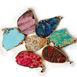Pendant For Necklace Natural Crystal Gemstone Pendant Jewelry Exaggerated Big Colorful Stone for Men Women Free Shipping