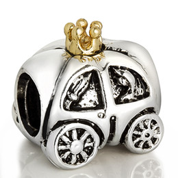 Wholesale Royal Carriage Charm 925 Sterling Silver European Charm Bead Fit Pandora Snake Chain Bracelet Fashion DIY Jewelry