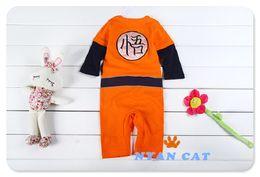 Wholesale-Baby Goku Dragon Ball Z Infant Baby Newborn Creeper Crawler Bodysuit,Dragonball Z Son Goku KungFu Baby Bodysuit Party,Jumpsuit