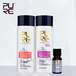 Wholesale PURC formalin keretin hair treatment ml and purifying shampoo and ml argan oil best hair care set repair damaged hair