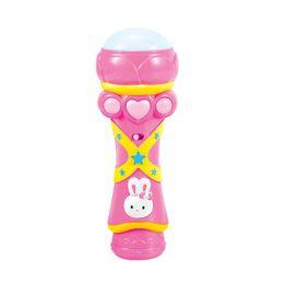 Wholesale Hot Sale Girls Boys Wireless LED Microphone Karaoke Singing Kid Funny Music Toy
