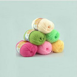 Wholesale Multi Color Soft Smooth Silk Wool Cashmere Baby Skein Knitting Yarn Worsted g
