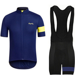 Wholesale Clothes Cyclist - Cycling jersey RAPHA blue clothing Radtrikot Pro Cycling maillot cycliste ropa ciclismo roupas cyclist roupas para ciclista