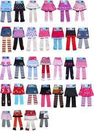 Wholesale Baby Cartoon culottes dress leggings Crochet knit skirts Children xmas leggings Tights pants baby clothes