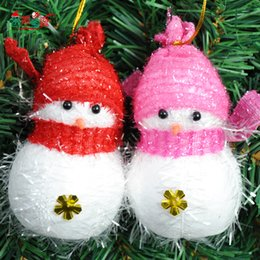 Wholesale Snowman Ornaments Sale - Very Cute Christmas Tree Ornaments Christmas Snowman Pendant Christmas Decorations Sale Wholesale Cheap Small Christmas Gifts