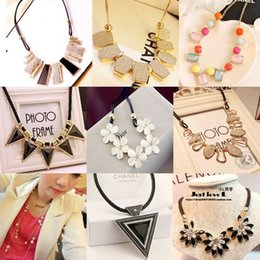 31 Colors Vintage Luxury Statement Necklaces European Style Fashion exaggeration Pendants Charms Chain Jewelry Children Accessories