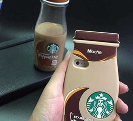 Wholesale 3D Starbuck Cartoon For Apple IPhone s Plus For Galaxy Cell Phone Cases Silicon Starbuck Coffee Cup Durable Mobile Phones Case