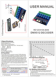 5 pieces free shipping 12CH DMX512 relay controller,12 channel Relay switch dmx512 control,each channel max 10A