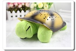 Wholesale Turtle Night Light Lamp LED Musical Turtle Toys Turtle Night Lights Charming LED Stars Constellation LED Projector Toy Turtle Kids Best Gift