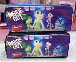 Niños mini lápiz en Línea-2.015 nuevos casos de cosméticos bolsa de papelería bolsa de lápiz de la historieta Inside Out Tristeza Miedo Alegría Asco Anger los mini bolsos de los niños regalos de navidad 201510HX