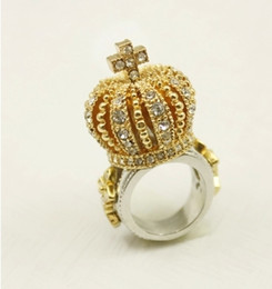 Lucky jewelry crown Cross Ring