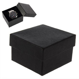 Fashion Watch boxes black square watch case with pillow jewelry display box storage box Ring Earrings Wrist Watch Box Gift Boxs