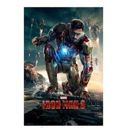 2014 New Iron Man 3 Movie Home Decoration Movie Poster Custom Fashion Classic 50x75CM Wall Sticker Free Shipping KO 366742