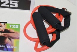 Wholesale DHL shipping shaun focus workout Fitness dvd dvds discs Tutorial MIB with Resistance Yoga Bands rope T