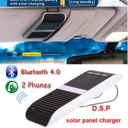 Car kit Bluetooth V4.0 Solar Power Speaker Hands Free Car Kit Wireless MP3 Speakerphone transmissor Bluetooth main Manos Libres