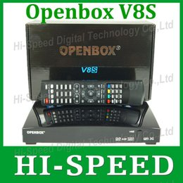 Wholesale 10pcs A Openbox V8S Digital Satellite Receiver Support WEBTV Biss Key x USB Slot USB Wifi G Youtube Youporn CCCAMD NEWCAMD
