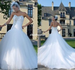 2016 Sexy Mermaid Plus Size Wedding Dresses Sweetheart Beaded Crystal Long Garden Bridal Gown Custom Made High Quality For Wedding Party