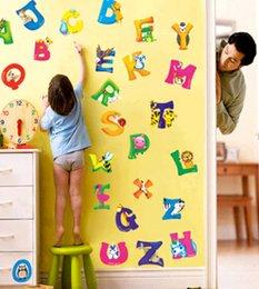 Wholesale retail A Z Alphabet Animals Wall Sticker Decals Decor Kids Nursery Mural Vinyl UKLXL