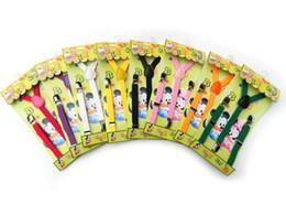 Simple Solid Striped Dot Children Baby 3 Clip elastic Shoulder Belt Kids All-match Adjustable Suspender Brace kid Trousers Folder Sling V047