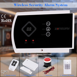 Wholesale ZONEWAY Wireless Wired GSM Voice Home Security Burglar Android IOS Alarm System Auto Dialing Dialer SMS Call Remote Control Setting S476