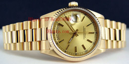 With Original Box Papers Mens 18k Gold President Champagne Automatic Luxury Mens Watch Wristwatch Men's Watches