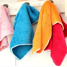 Wholesale 10Pcs Soft Fiber Cleaning Cloths Household Cleaning Tools Dishcloths Rags Washing Cloths Car Cleaning Towel