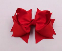 """Wholesale 100pc 4"""" Grosgrain Ribbon Spike Hair Bow Hairbow Headwear Headdress Clips Solid Color Baby Children's Accssory U Pick"""
