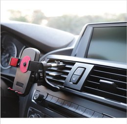 Wholesale Universal Car Air Vent Phone Holder Automobiles Airframe Mount Stand For iPhone Plus S For Samsung Smartphone Car Holder