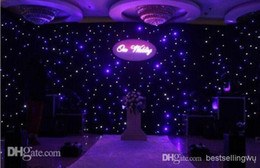 Shiny Blue-White Color LED Star Curtain Wedding Stage Backdrop Cloth With Lighting Controller For Wedding Decoration Supplies