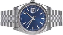 Luxury WATCHES Gold & Steel Blue Roman Dial 116234 Rehaut Jub WATCH CHEST 40mm Man Wristwatch