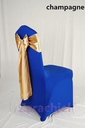 Romantique Tache Tissu Ruban Multi Color Mariage Fête Banquet Célébrations Banquet Chair Covers 17 * 270cm Sashes Bow pour décorations de mariage à partir de arcs décorations mariage fabricateur
