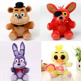 Five Nights at Freddy Plush Toys FNAF Bear Foxy Bonnie Chica 4 Styles Stuffed Dolls Toys