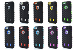 Wholesale Tire Robot Hybrid Heavy Duty Rugged Shockproof Hard plastic Soft Silicone Case Skin Cover for iphone S S iphone G plus