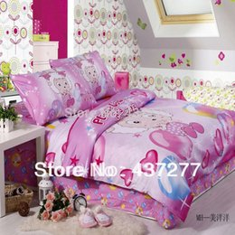 Wholesale China cartoon cotton hometextile beauty sheep balloon heart pink bedding for babies twin full duvet covers sheet comforter sets