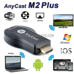 Androide tv stick dlna en venta-Nueva Anycast M2 Plus DLNA Airplay WiFi Pantalla Miracast Dongle de HDMI 1080P Receptor Multidisplay AirMirror Mini Android TV adhiera mejor ezCast
