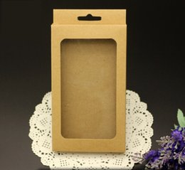 Wholesale Kraft Brown Paper Box Retail Package Packaging for Phone Case iPhone S SE S Plus Samsung S6 S7 Edge Note OEM