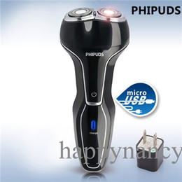 Wholesale IDEAL PERFECTINNOVATIVE AFFORDABLE BLACK USB Rechargeable Good Mens Electric Shaver durable environmental rinses