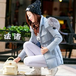 Wholesale The new autumn and winter women Nagymaros collar and long sections coat was thin big yards thick down jacket military equipment