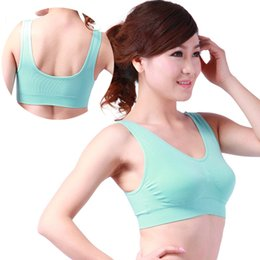 Tank top Seamless Sports Leisure Bra Support Vest wire free Yoga Shapers running bra body shape padded vest non-trace Athletic Sleeping bra