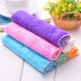 Wholesale 10pcs Bamboo Fiber Cleaning cloths Dishcloths Rags Washing cloths Cleaning towel QD3